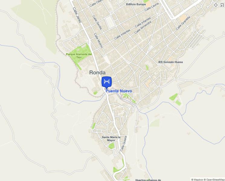 map puente-nuevo-ronda