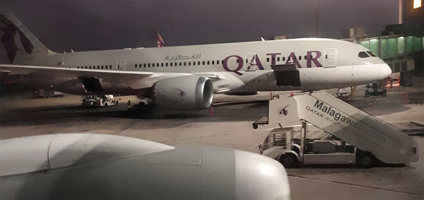 Avión de Qatar Airways en Doha