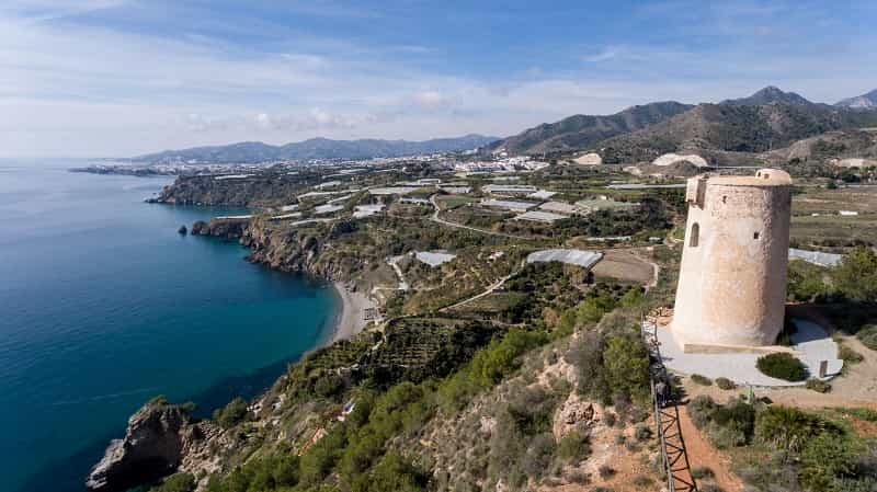 Viewpoint of the Tower of Maro in Nerja