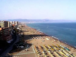 Torremolinos beach overview