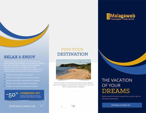folleto de vacaciones