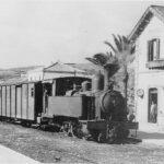Tren antiguo en Málaga