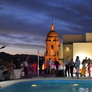 rooftop penthouse pool & party