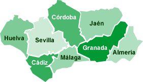 Andalucia On Map Of Spain.Map Of Andalucia Southern Spain Tourist And Road Map