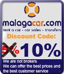 Discount voucher code Malaga car hire