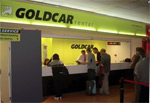 Goldcar airport desk