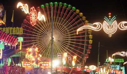 Malaga night fair