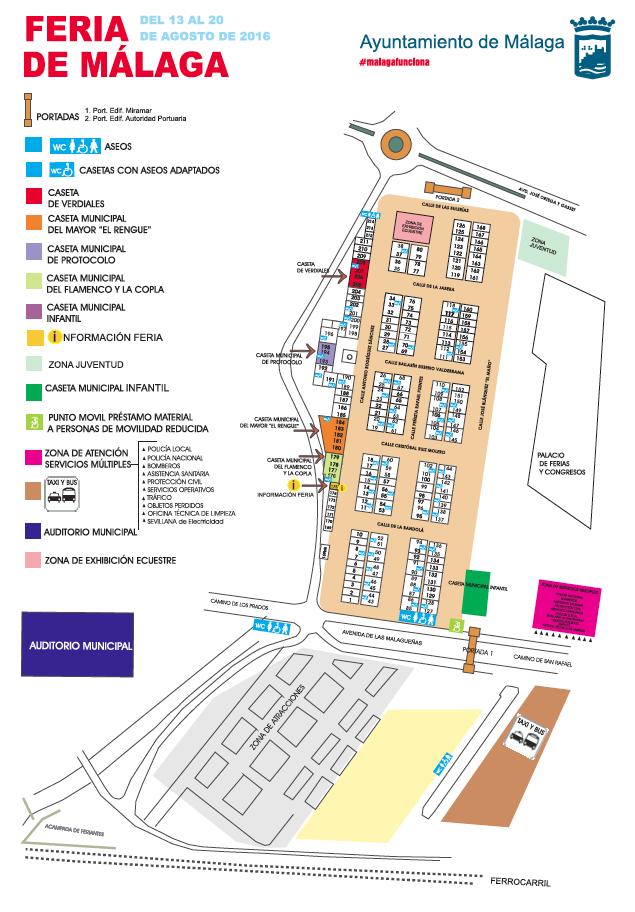Mapa recinto ferial 2016