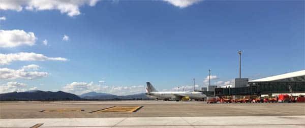 Foto de las pistas del aeropuerto