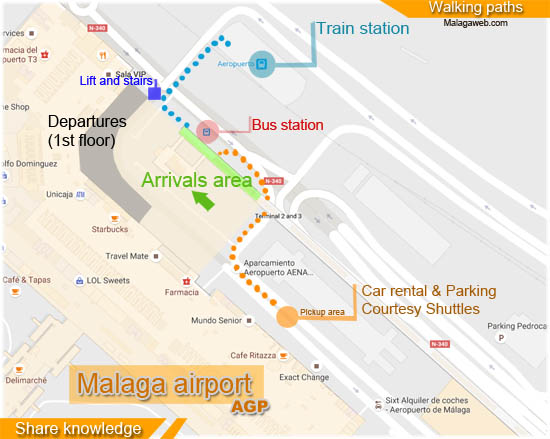 Trains from Malaga airport Timetable ticket price and routes