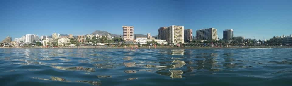vista de Málaga desde el mar