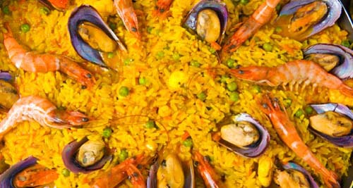 Photo of paella taken in restaurant of Malaga