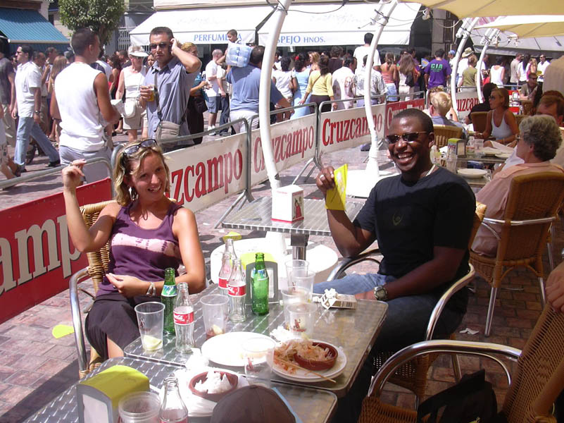 Drinking and eating in Malaga Fair 7 - August 23, 2003