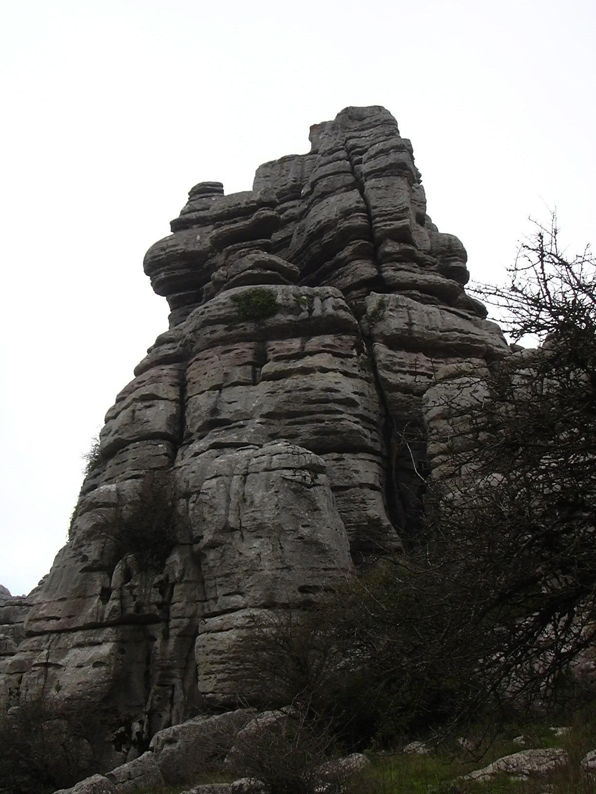 El Torcal rocks overview