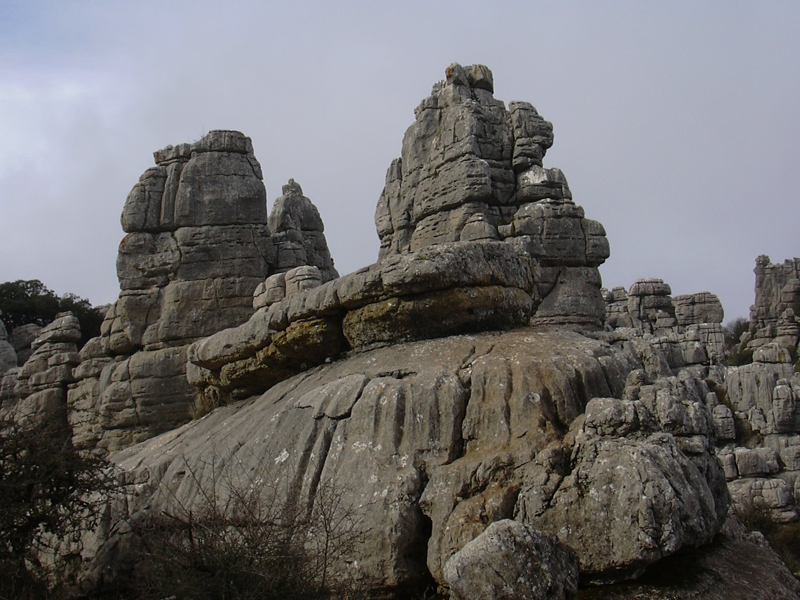 El Torcal rocks overview 10