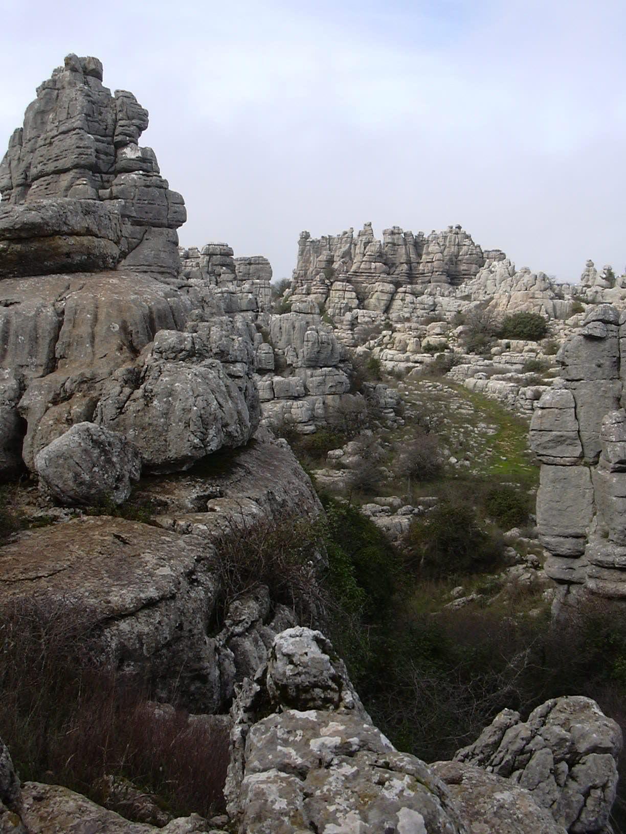 El Torcal rocks overview 11