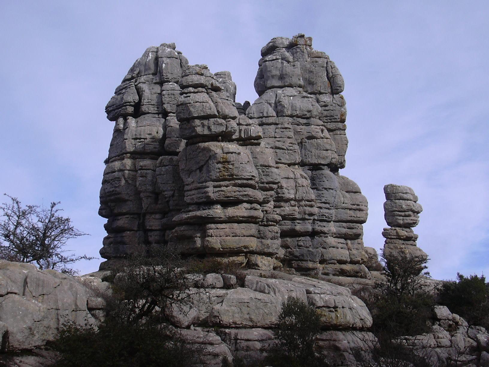 El Torcal rocks overview 14