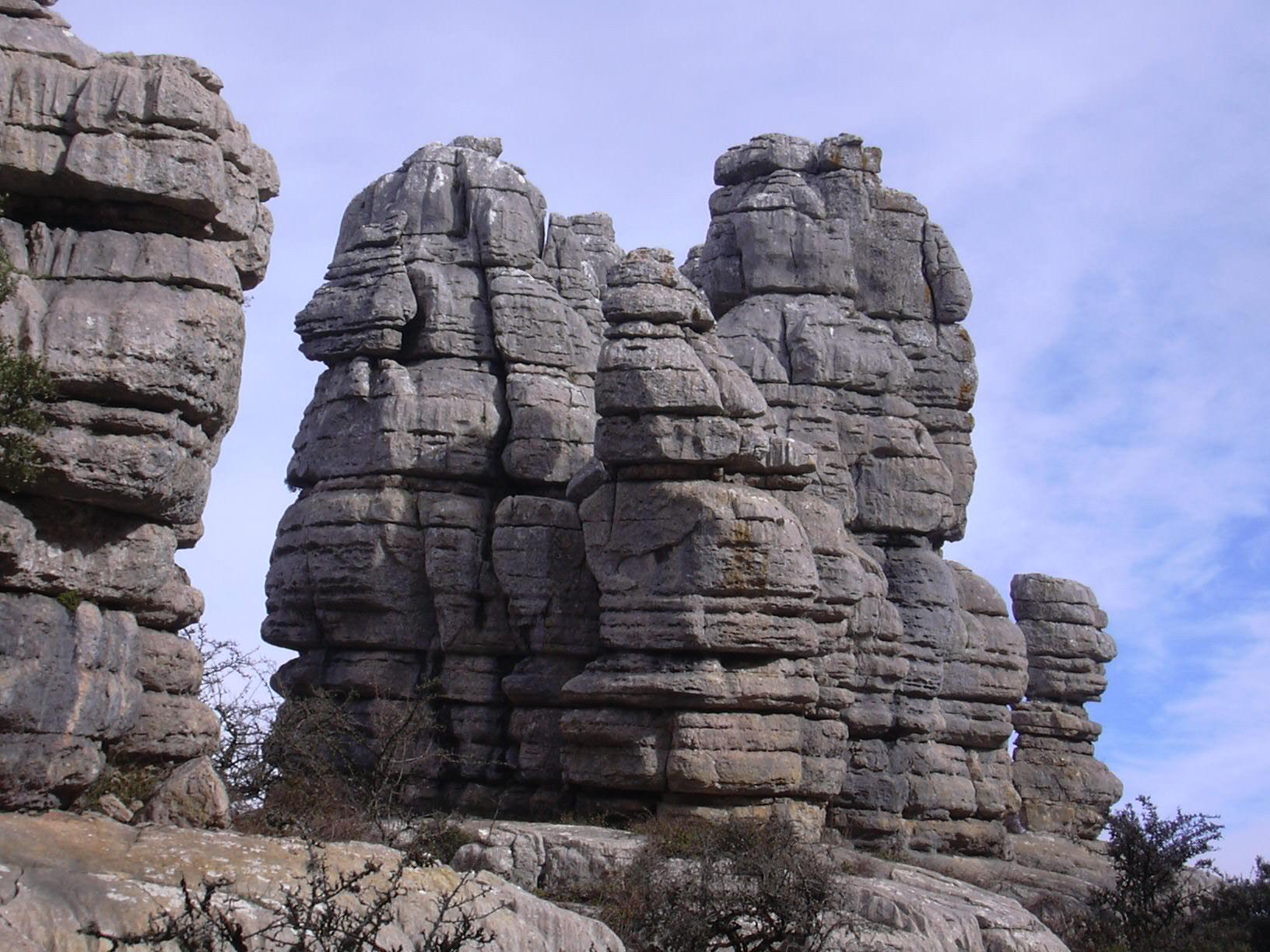 El Torcal rocks overview 15