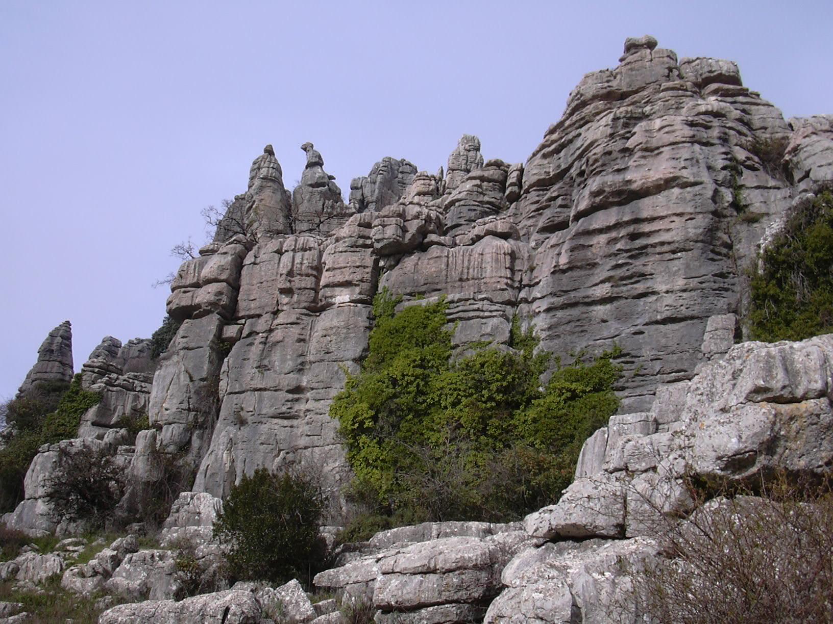 El Torcal rocks overview 18