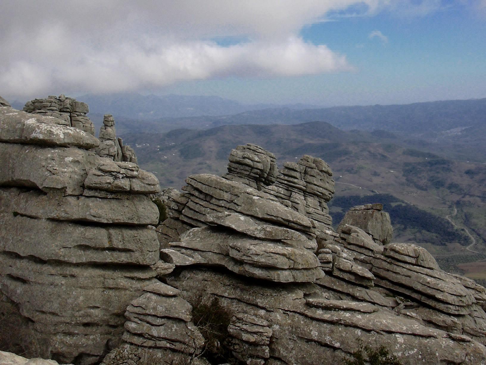 El Torcal rocks overview 2