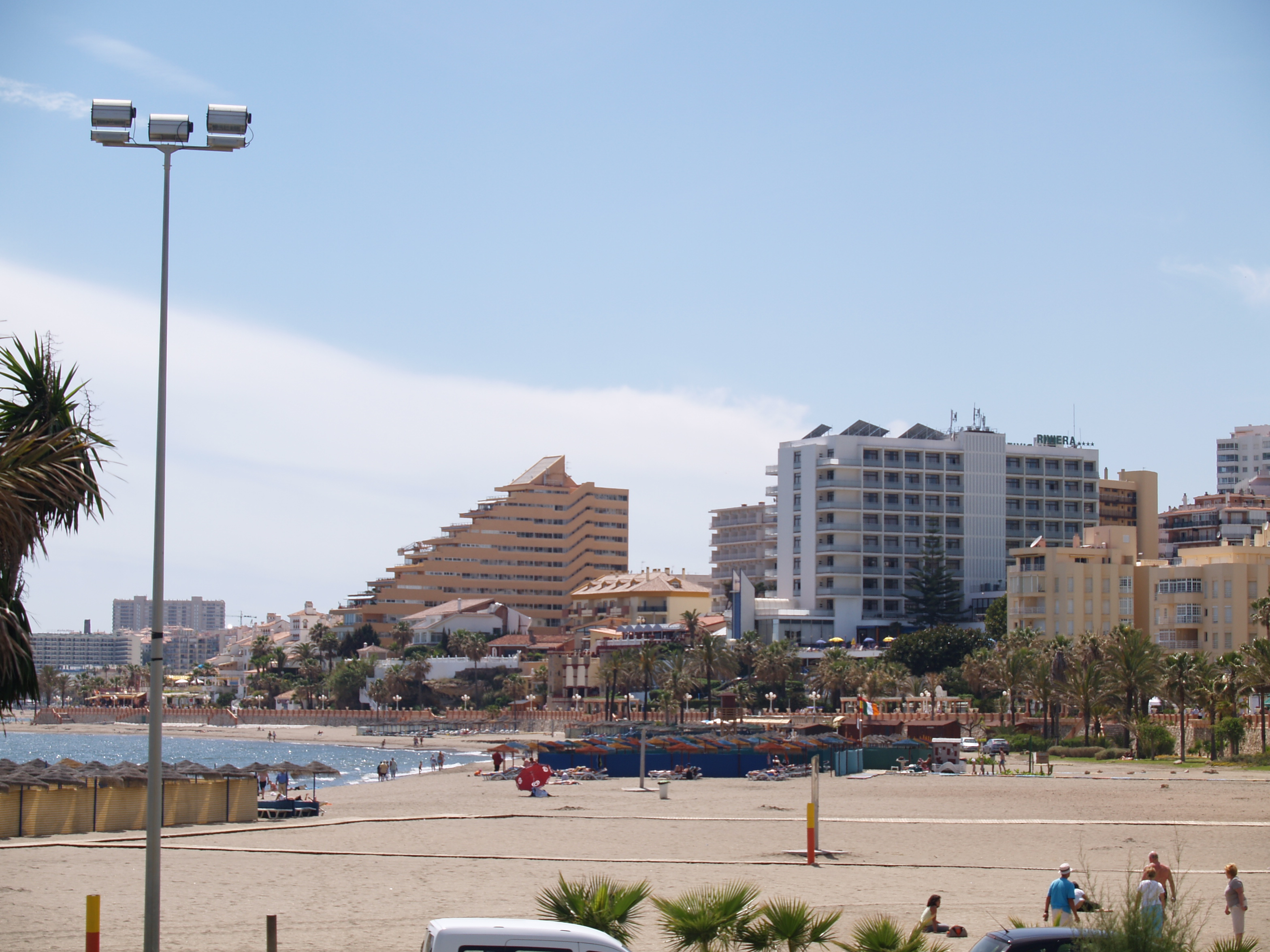 Benalmadena beach and hotels