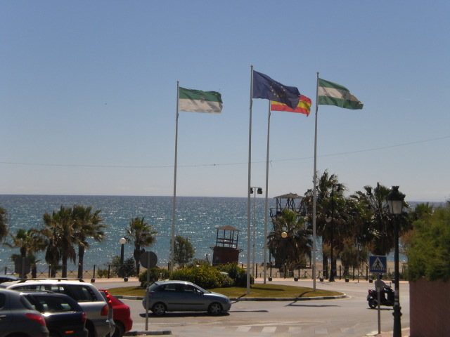 Estepona and flags - April 3, 2008