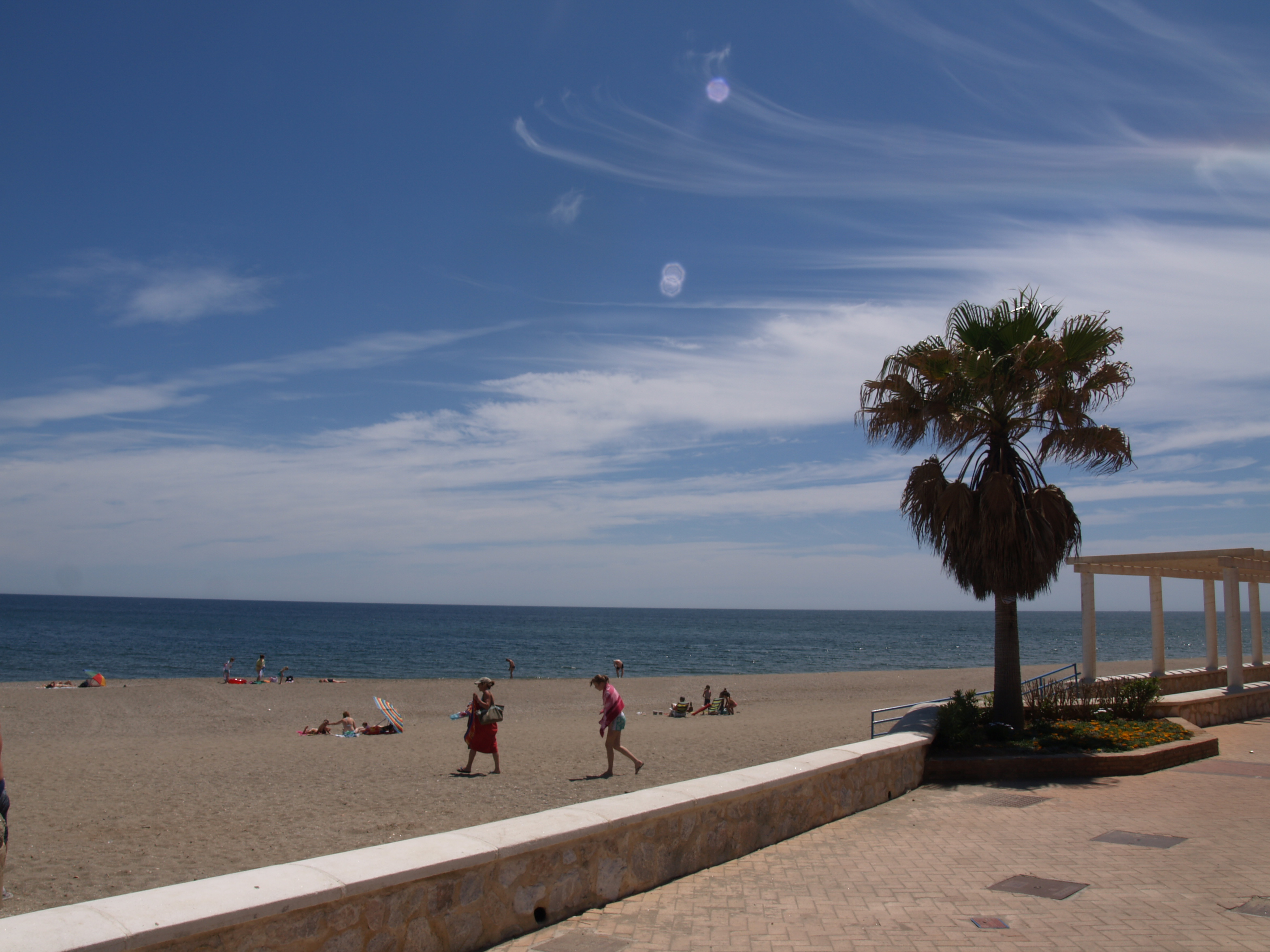 Fuengirola beach from promenade 57 - April 29, 2008