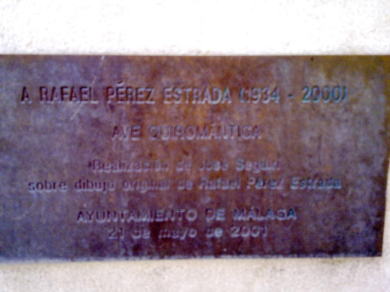 Plaque in Malaga to Rafael Estrada