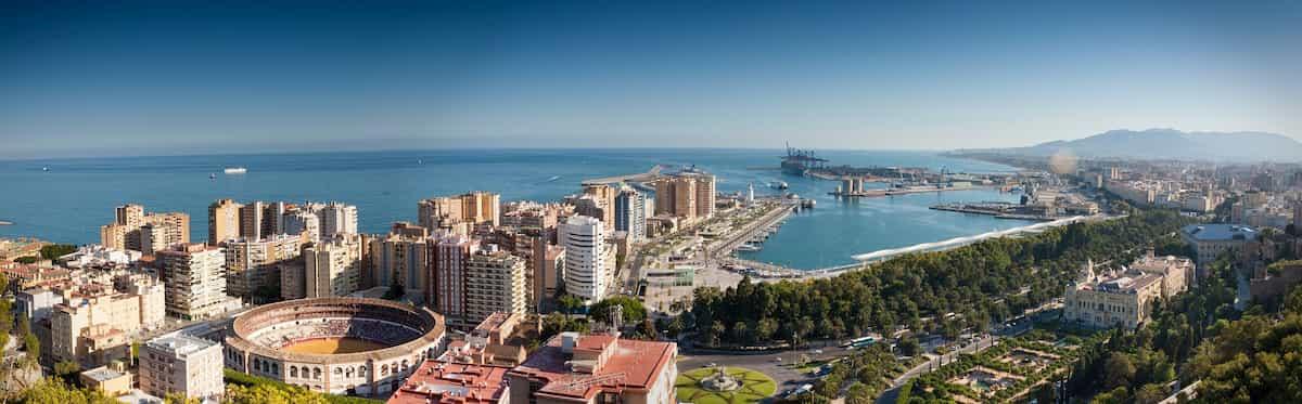 Overview of Malaga from Gibralfaro