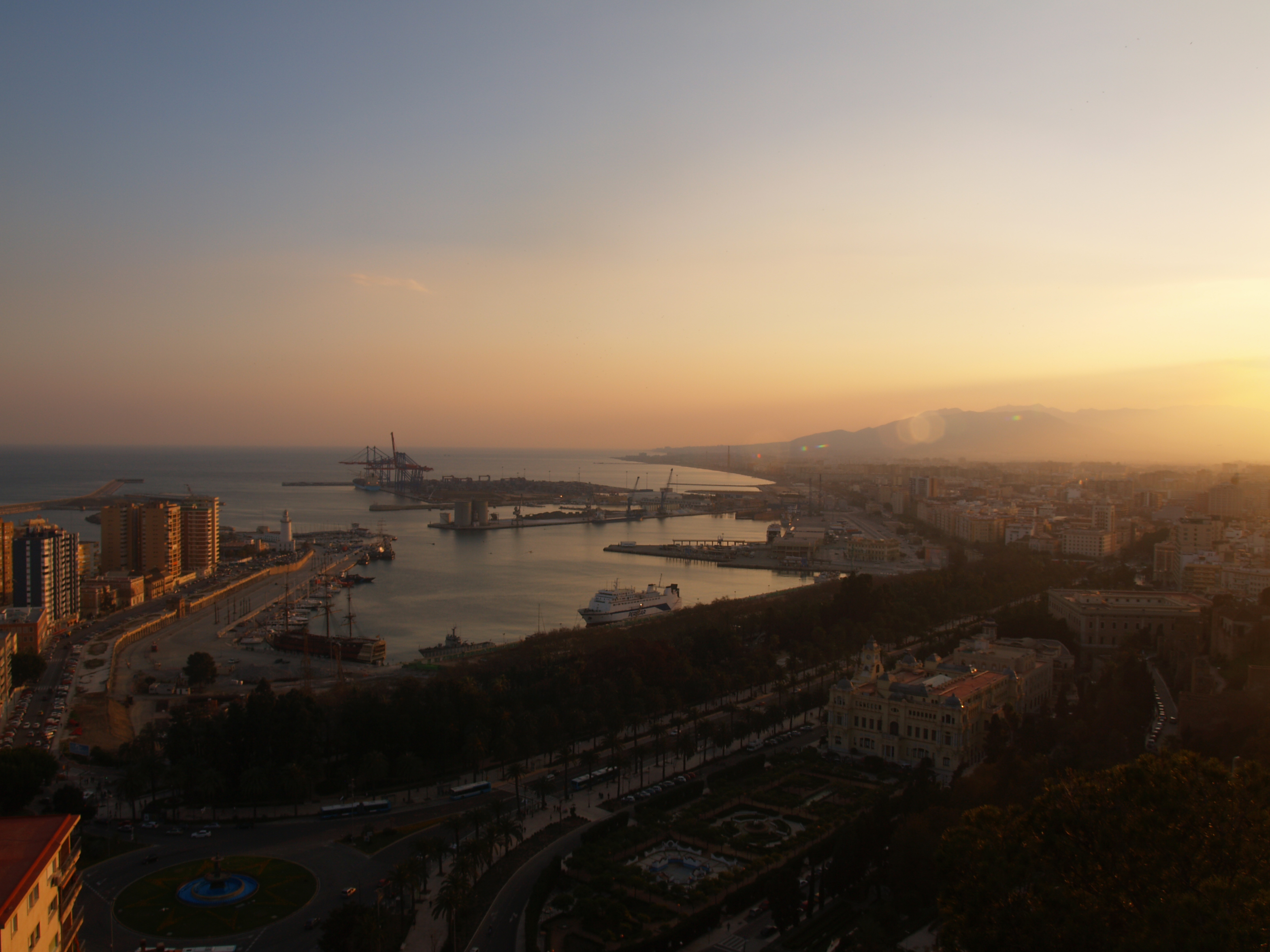 Port of Malaga and coast