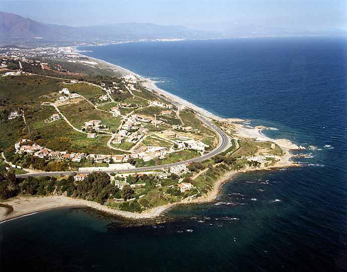 Chullera beach aerial view 2