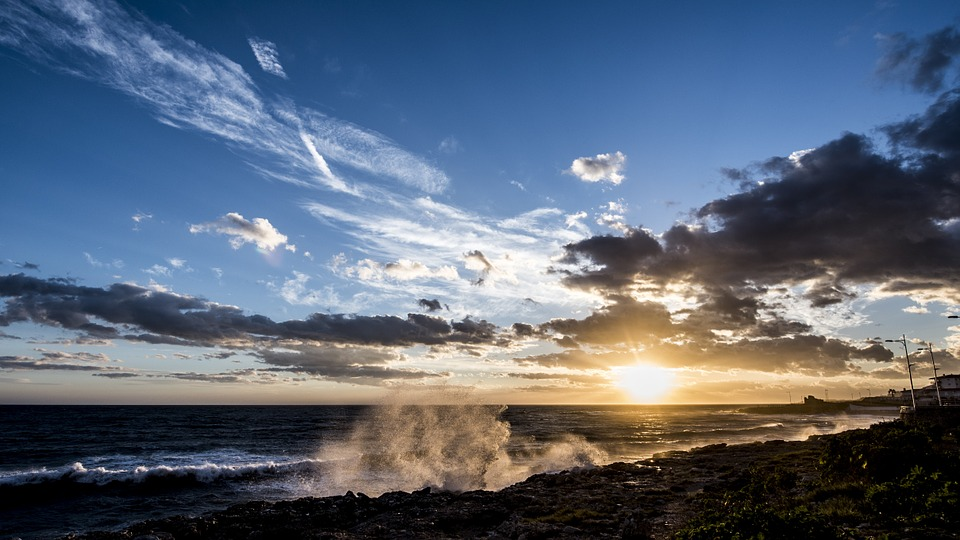 Beautiful Nerja sunset