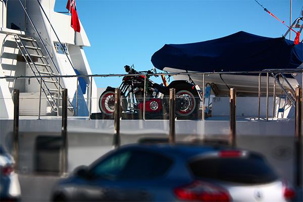 Harley on Yacht in Puerto Banus
