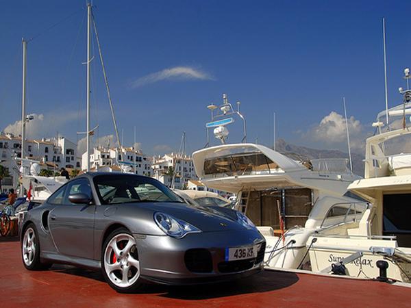Porsche in Puerto Banus