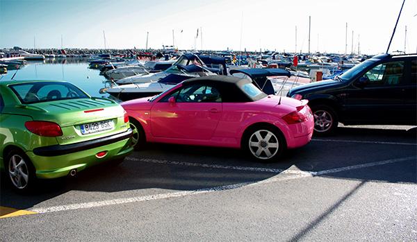 Puerto Banus and Pink audi