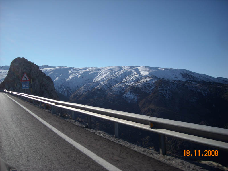 Sierra Nevada from the road by car