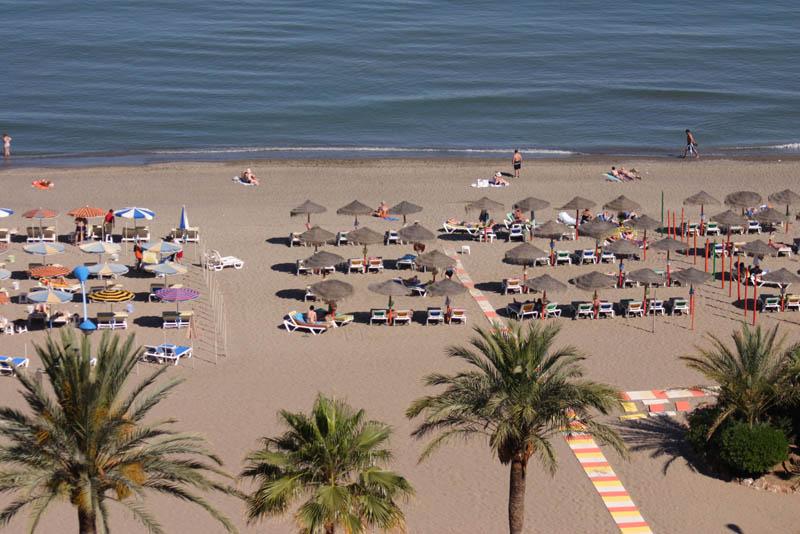 Torremolinos beach aerial view