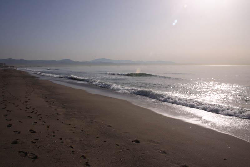 Beach sunrise in Torremolinos