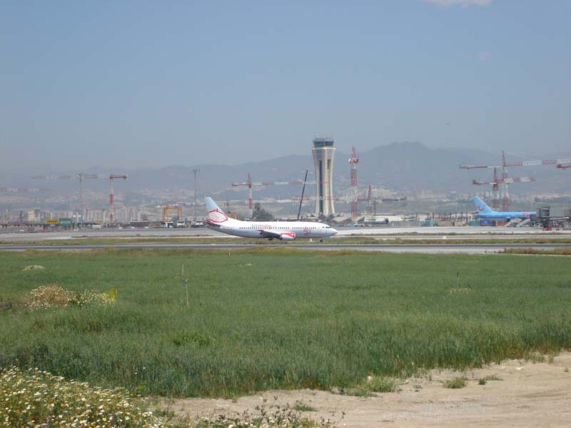 Malaga airport landing