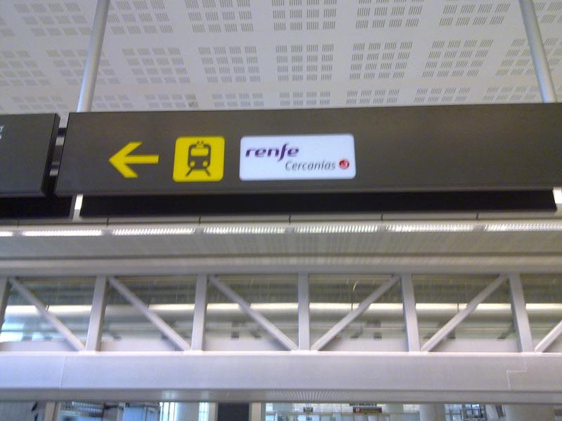 Malaga airport Train signal