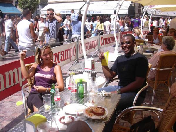 Drinking and eating in Malaga Fair 7