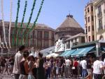 Constitucion square near Calle Larios at Fair - Thu, August 29, 2019