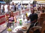 Drinking and eating in Malaga Fair 7 - Sat, August 23, 2003