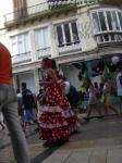 Calle Larios and typical dress for Fair