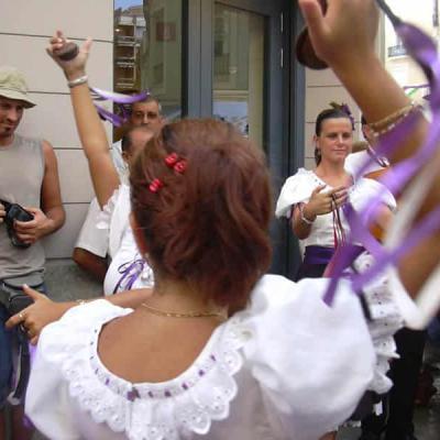Dancing Flamenco during Malaga Fair.