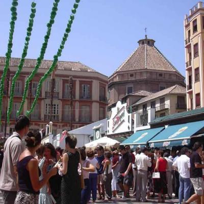 Constitucion square near Calle Larios at Fair