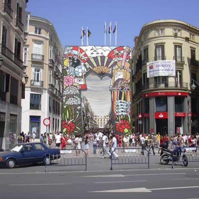 Entrance of Calle Larios during Malaga Fair