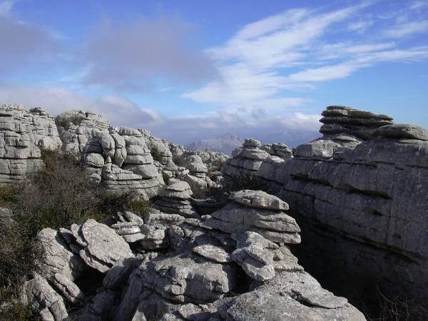 El Torcal rocks overview 1