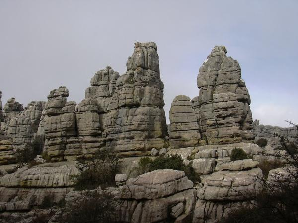 El Torcal rocks overview 12