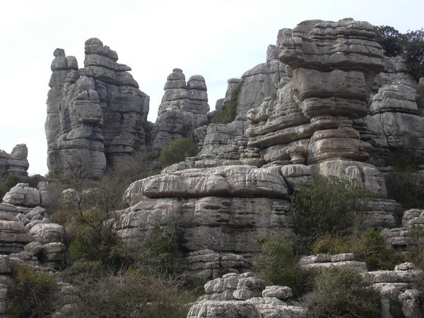 El Torcal rocks overview 17